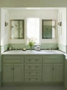 White Overmount Bathroom Sink by Green Cabinets Mediterranean Bathroom Coddington Design