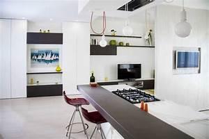 Bar Séparation Separation Cuisine Salon : separation cuisine americaine et salon cuisine en image ~ Melissatoandfro.com Idées de Décoration