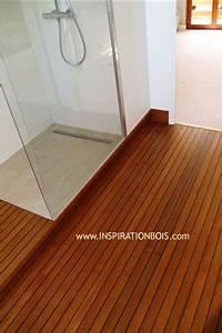 parquet de salle de bain en teck plancher pont de bateau With sol en teck salle de bain