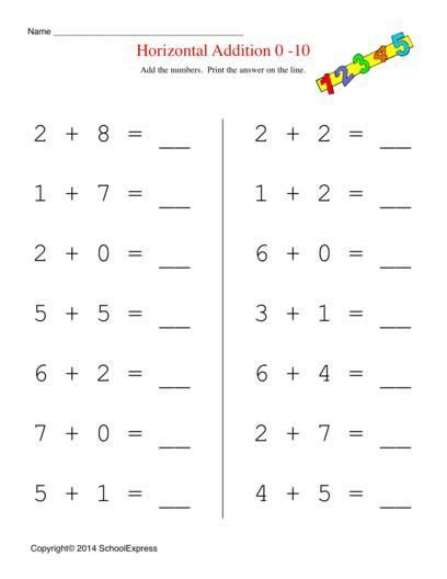 math worksheets  addition worksheets story problems
