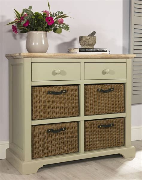 Sideboards With Baskets florence sideboard with drawers 4 storage baskets