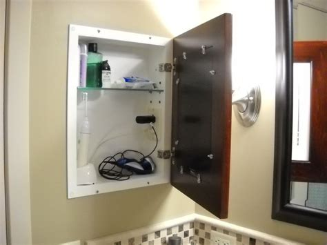 medicine cabinet with outlet recessed picture frame medicine cabinets with no mirrors