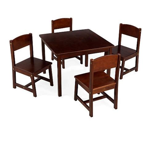 Kidkraft Farmhouse Table And Chair Set by Best Prices Kidkraft Farmhouse Table And Chair Set Pecan