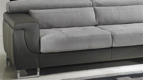 canape cuir droit canapé d 39 angle droit cuir microfibre gris pas cher