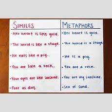 Fun Simile & Metaphor Activities Synonym