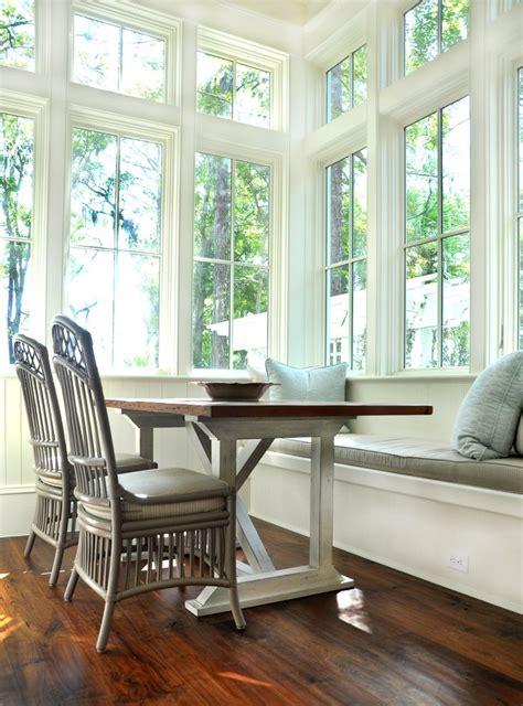 eat  kitchen bench seat full windows interior