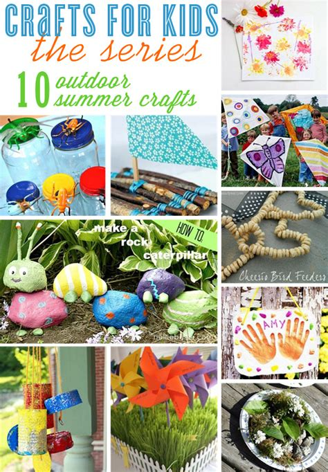 Crafts For Kids {10 Outdoor Craft Ideas} • The Celebration