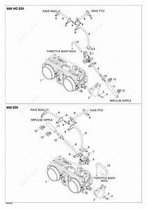 Ski Doo 2004 Legend - 600 Ho Sdi  Throttle Body