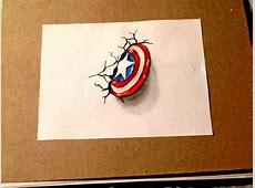 Como dibujar el escudo de Capitán América 3d dibujemos