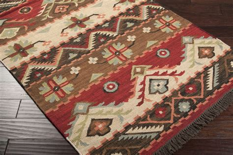 southwestern area rugs 5x8 designer southwestern lodge woven wool flatweave