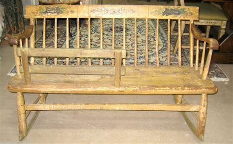 country settee bench antique country mammy nanny rocking settee bench ebay