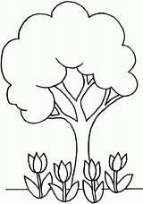 Coloring Tree Simple Popular sketch template