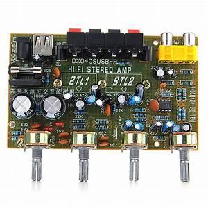 Dx0409 Stereo Audio Amplifier Board Hifi Amplifier 2 0 Channel