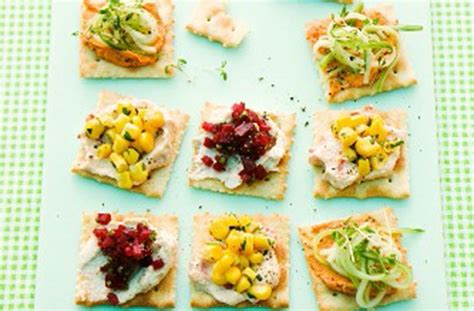 canape toppings 50 and easy canapes cracker bites goodtoknow