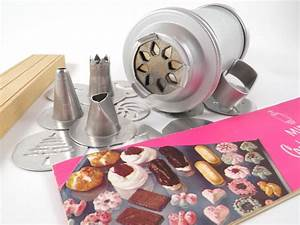 Vintage Mirro Cookie Press Set Spritz Maker W   Disks And