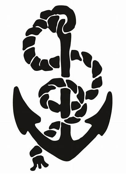 Nautical Symbols Clipart Anchor Clip Silhouette Cliparts