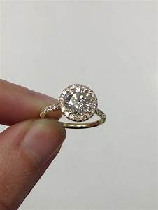 round diamond in cushion shaped engagement ring adiamor With round engagement ring with wedding band