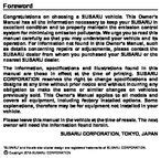 subaru ascent owners manual   pages
