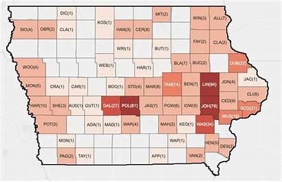 Iowa Covid Change Pandemic Map County April