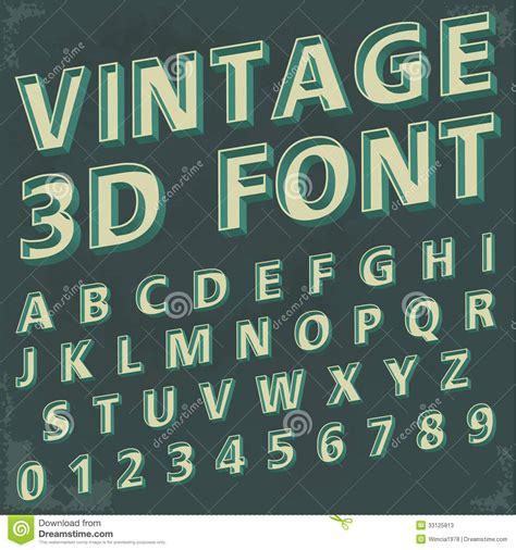 3d retro type font vintage typography stock photos image 33125813