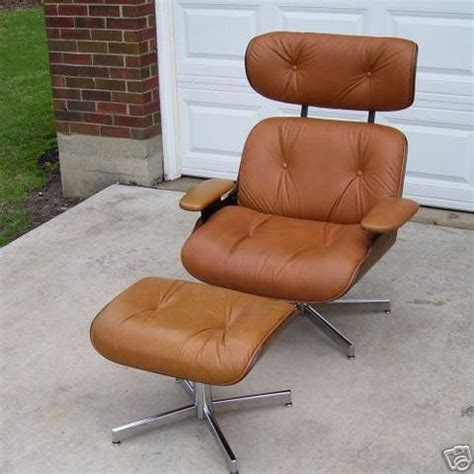 modern eames era walnut lounge chair by selig