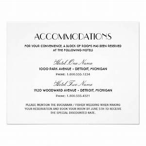 Accommodations card wording the knot for Examples of wedding accommodation cards