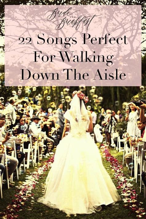 The romantic song to walk down the aisle to should be something that is meaningful and memorable to you and your fiancé. Songs Perfect For Walking Down The Aisle: Part 1 | Wedding playlist, Songs and Wedding
