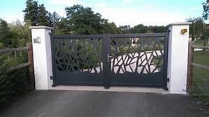 Portail En Aluminium : portail laser d coup en alu sur mesure echire hyper ~ Melissatoandfro.com Idées de Décoration