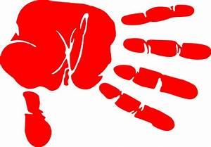 Hand Print Red Clip Art at Clker.com - vector clip art ...
