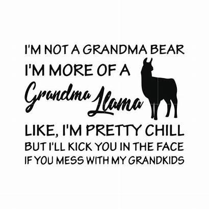 Grandma Funny Bear Chill Svg Grandkids Pretty