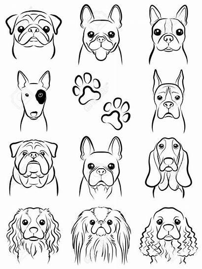 Dog Line Drawing Drawings Cartoon Tattoo Doodle