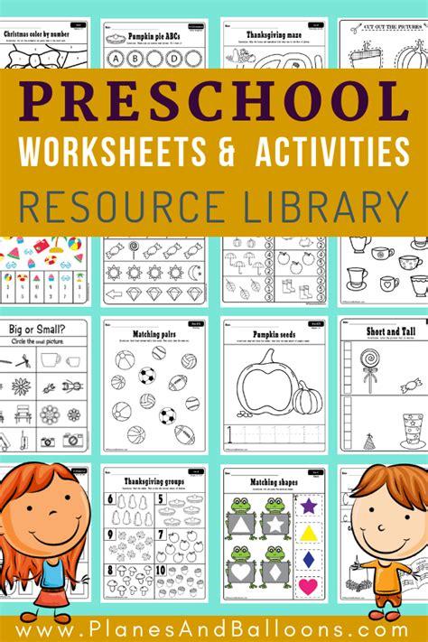 preschool worksheets   format  print