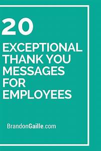 Professiona Resume 21 Exceptional Thank You Messages For Employees How To