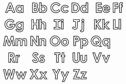 Alphabet Letters Coloring Printable Pages Letter Coloringpages4u