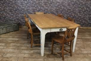shabby chic farmhouse table reclaimed rustic pine with