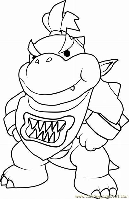Bowser Mario Coloring Jr Pages Super Koopa
