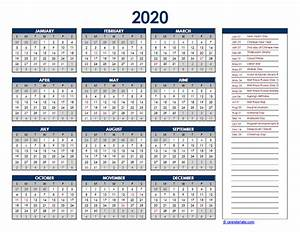2020 Yearly Calendar Word 2020 Malaysia Yearly Excel Calendar Free Printable Templates