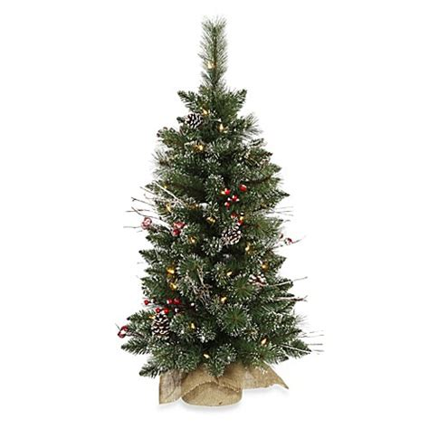 vickerman 3 foot snow tip pine berry pre lit christmas