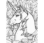 Unicorns 9 Fantasy Coloring Pages & Book
