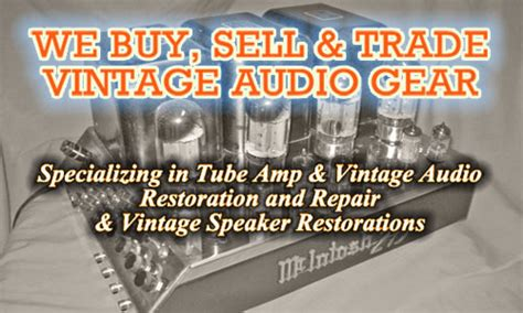 audio exchange llc buy sell trade repair and restore vintage audio gear