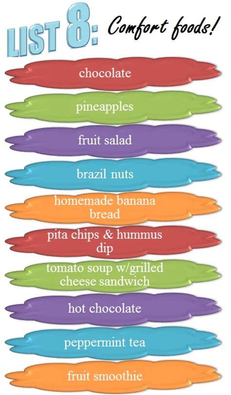 comfort food list list 8 comfort foods 30lists print