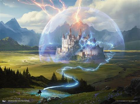 mtg art wizards retort  dominaria set  grzegorz