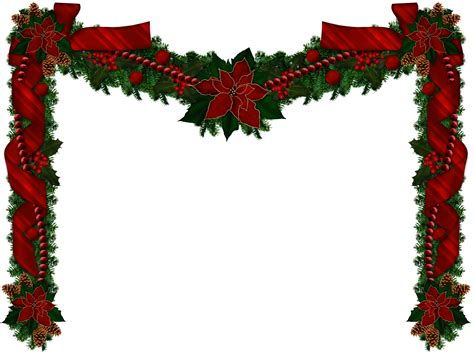 the gallery for gt christmas garland transparent png