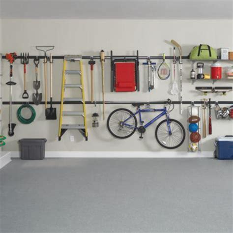 rubbermaid garage storage system rubbermaid fasttrack garage storage system compact hanging hook 1784455 home kitchen