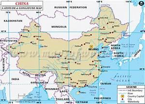 China Latitude and Longitude