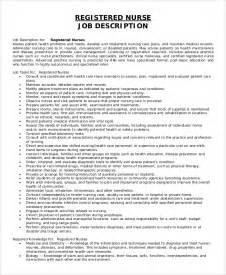 rn duties description sle registered description 8 exles in