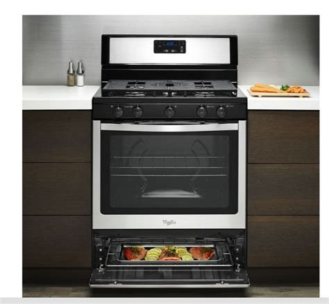 Gas Stove Range 5.1 Cu Ft Oven Kitchen Chef Broiler