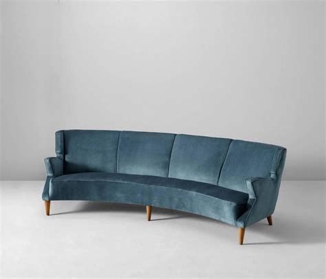 31675 gently used furniture admirable large italian four seat curved sofa for at 1stdibs