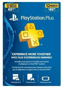 playstation year month membership canada