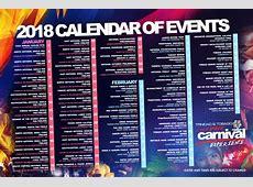 Trinidad & Tobago 2018 Carnival Calendar of Events